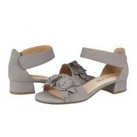 Дамски сандали на нисък ток Caprice сиви