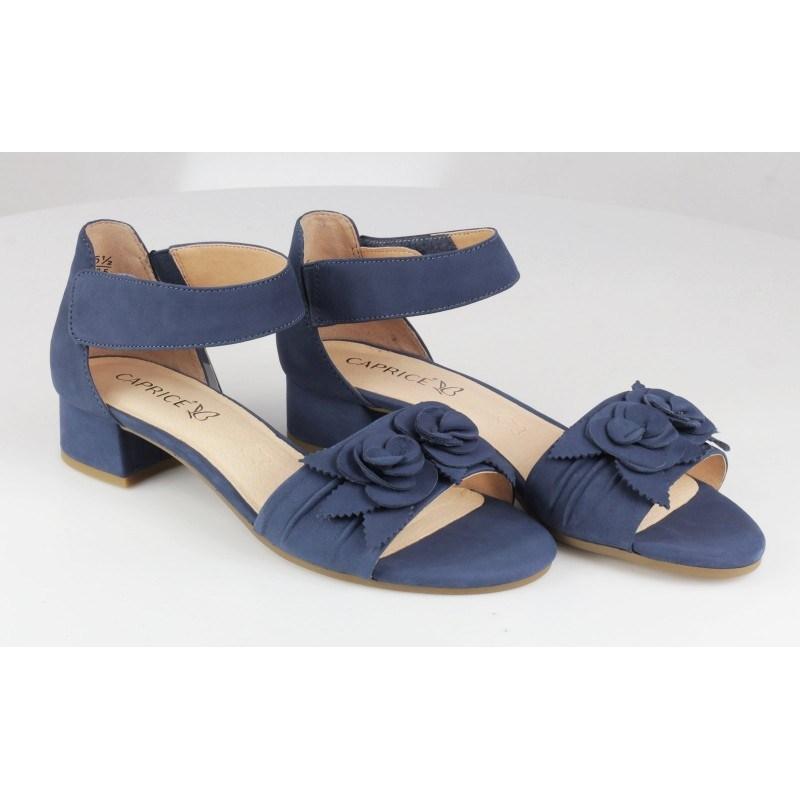 Дамски сандали на нисък ток Caprice сини
