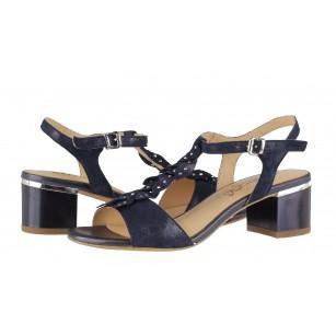 Дамски сандали на нисък ток Caprice тъмно сини