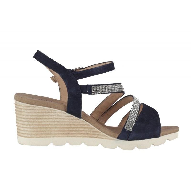 Дамски сандали на платформа Caprice сини