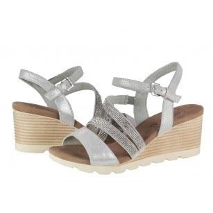 Дамски сандали на платформа Caprice  сребристи