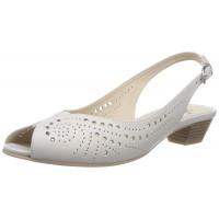 Дамски сандали с нисък ток Caprice бели