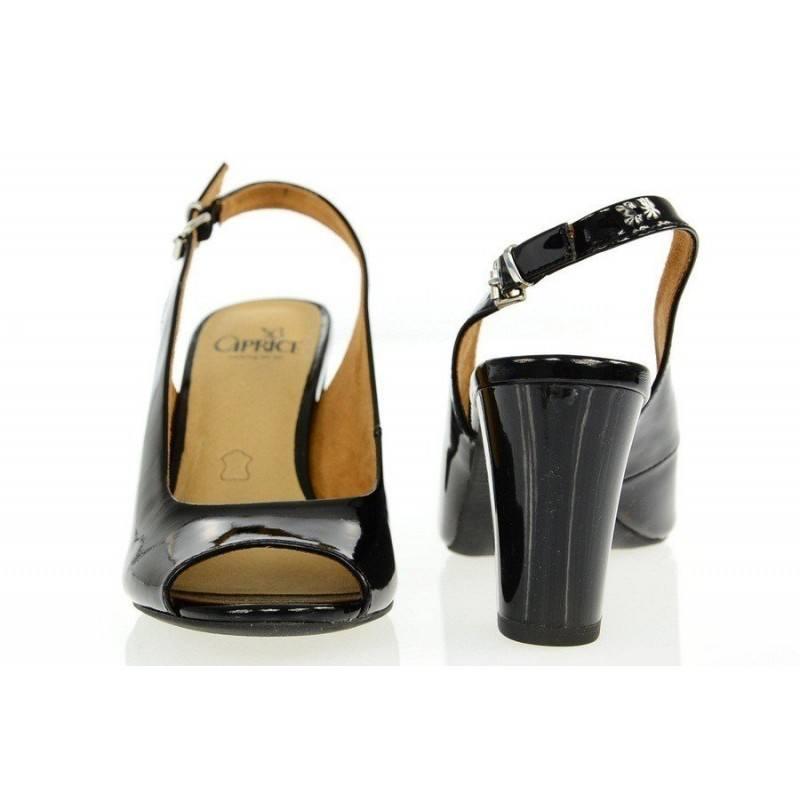 Дамски елегантни сандали на ток Caprice черни