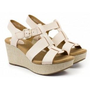 Дамски сандали на платформа Clarks Nude Caslynn Reece