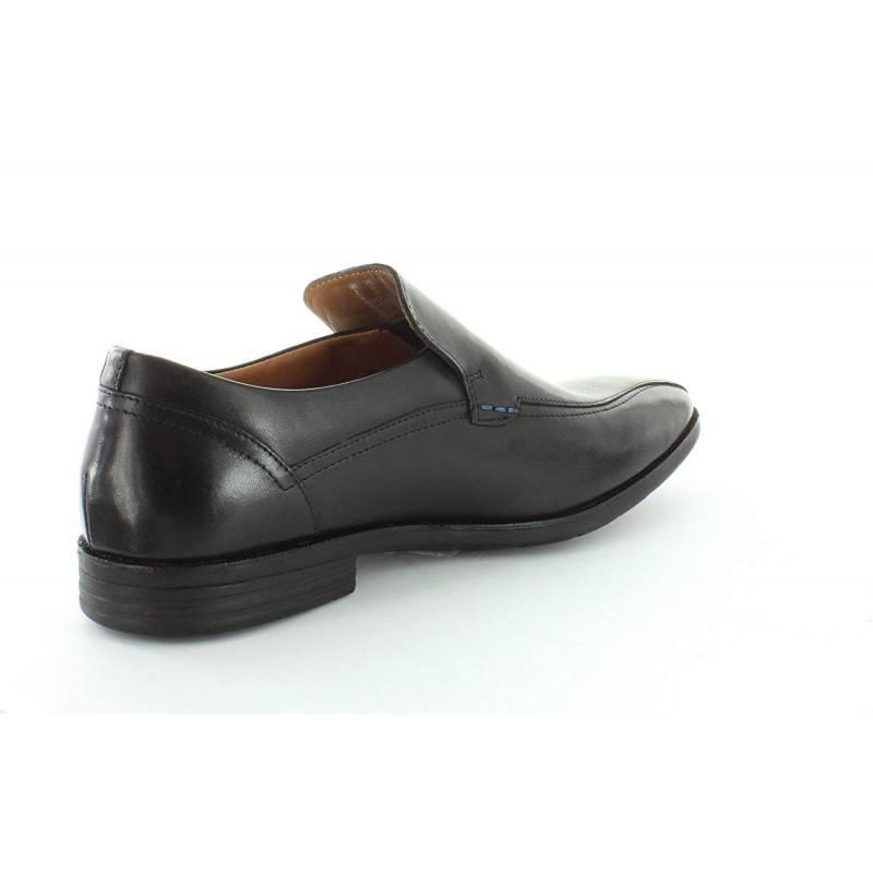 Мъжки обувки от естествена кожа без връзки Glenrise Step черни