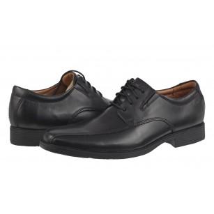 Елегантни мъжки кожени обувки Clarks Tilden Wa;l черни