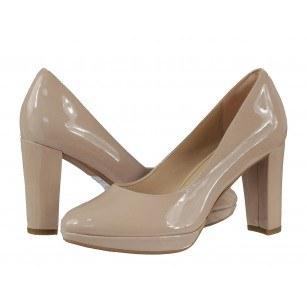 Дамски обувки Clarks Kendra Sienna на висок ток естествена кожа  бежови
