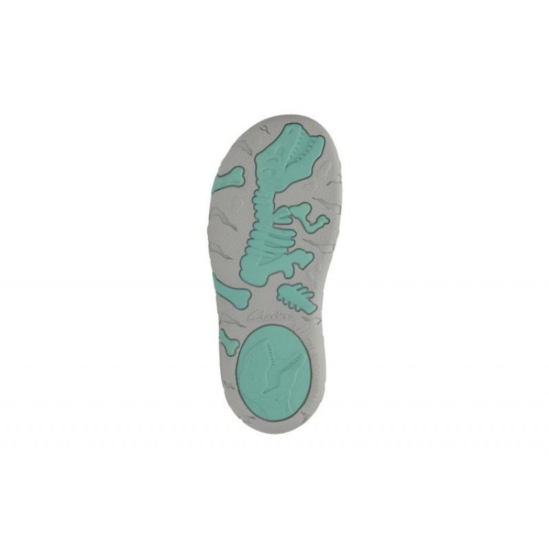 Детски сандали с лепки Clarks Tyrano Walk