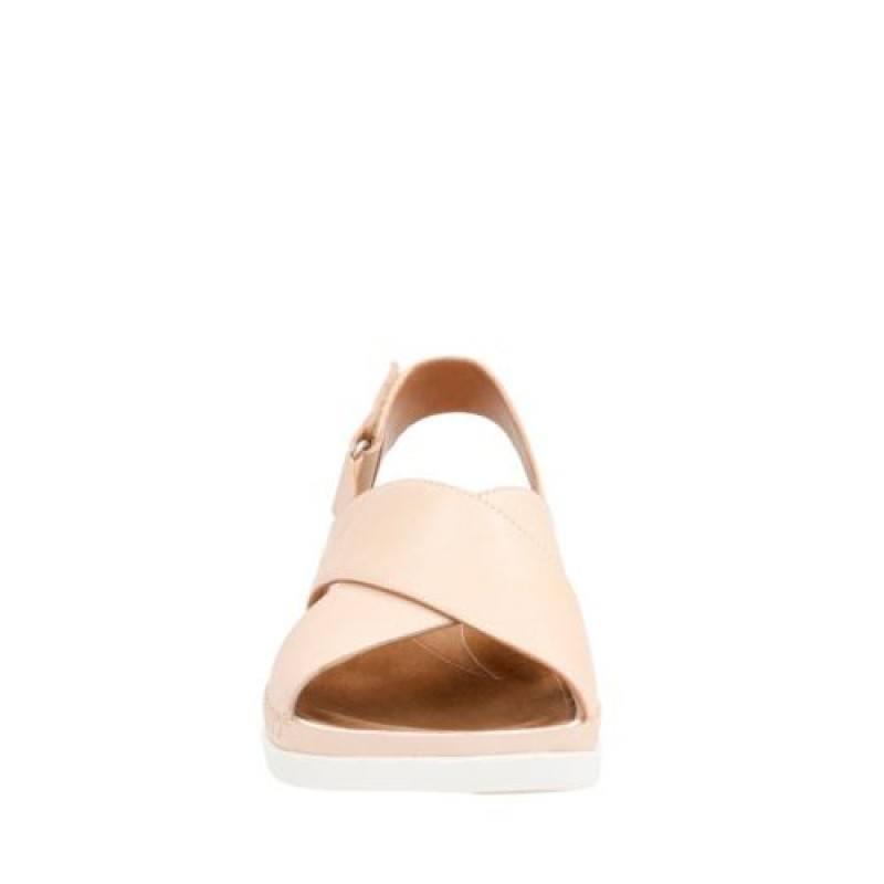 Дамски анатомични сандали Clarks Tri Alexia естествена кожа розови
