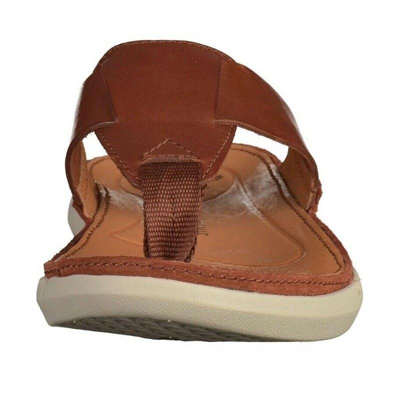 Мъжки анатомични чехли Clarks Trisand Post естествена кожа Trigenic кафяв