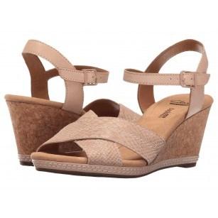 Дамски сандали на платформа Clarks Helio Latitude естествена кожа розови