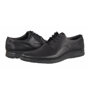 Мъжки обувки от естествена кожа Clarks Vennor Walk черни