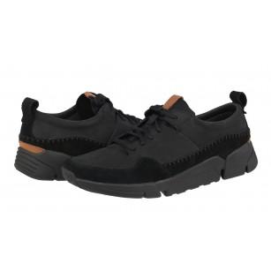 Мъжки спортни обувки от естествена кожа Clarks Tri Active Run черни Trigenic
