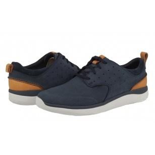 Мъжки обувки от естествена кожа Clarks Garratt Lace сини