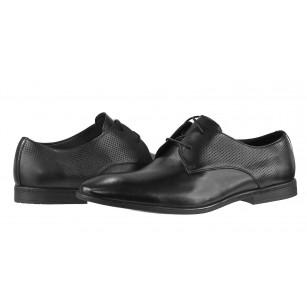 Мъжки обувки от естествена кожа Clarks Bampton Walk черни