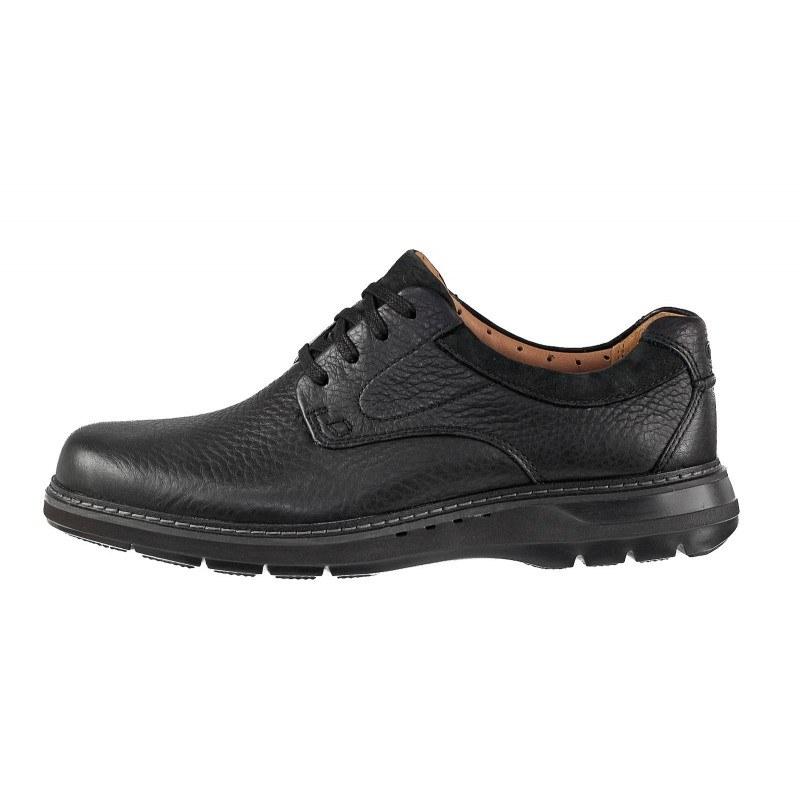 Мъжки обувки от естествена кожа Clarks Un Rambie Lo черни