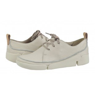 Дамски спортни обувки от естествена кожа Clarks Tri Clara бели