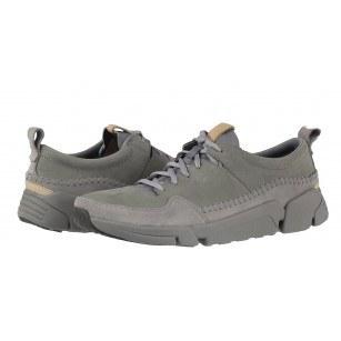 Мъжки спортни обувки от естествена кожа Clarks Tri Active Run сиви Trigenic
