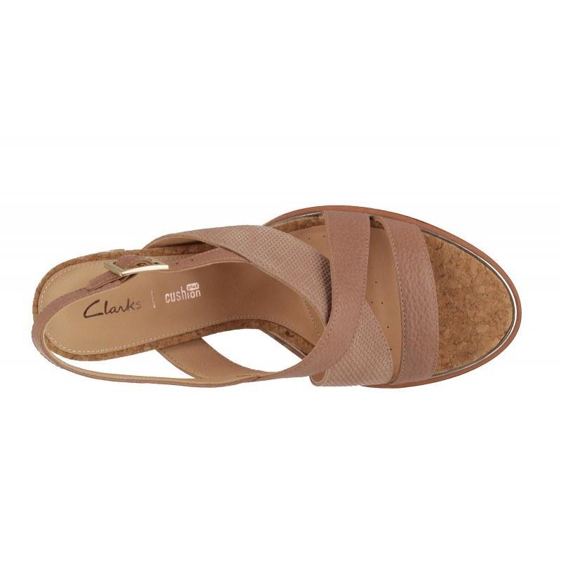 Дамски сандали на ток Clarks Ellis Tilda розови