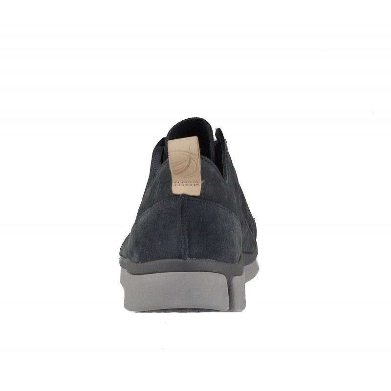 Мъжки обувки Clarks Tri Verde Lace сиви естествена кожа