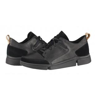 Мъжки обувки Clarks Tri Verde Lace черни естествена кожа