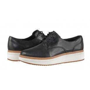Дамски обувки на платформа Clarks Теadale Rhea естествена кожа черни