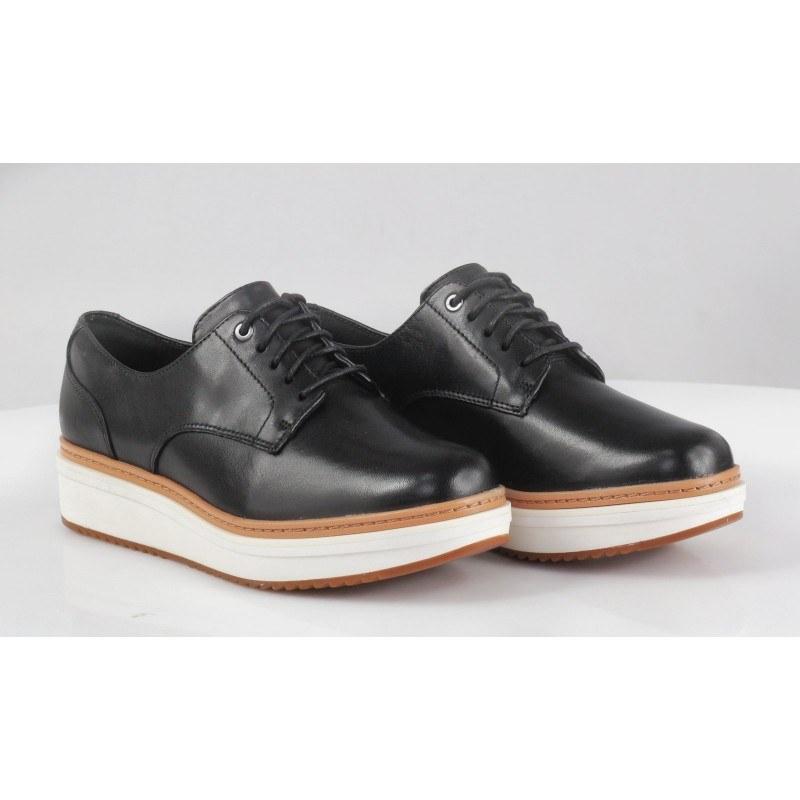 Дамски обувки на платформа Clarks Теadale Rhea естествена кожа