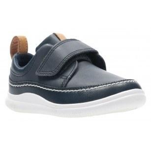 Детски обувки от естествена кожа Clarks Ember T сини