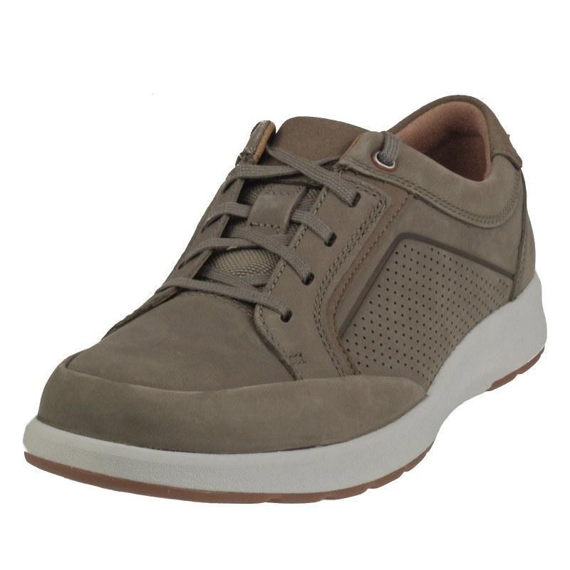 Мъжки обувки от естествена кожа Clarks Un Trail Form бежови