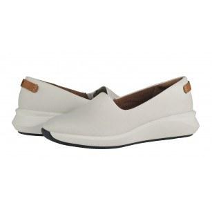 Дамски обувки на платформа Clarks Un Rio Step бели