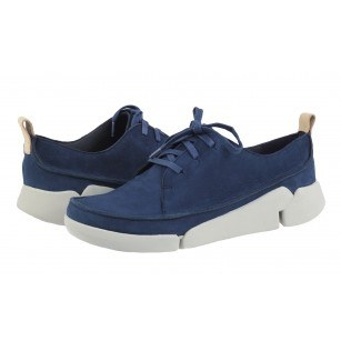 Дамски спортни обувки от естествена кожа Clarks Tri Clara сини