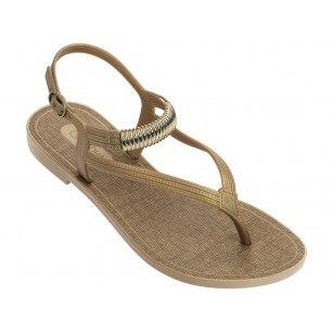 Дамски сандали Grendha IMPREVISIVEL SAND златни