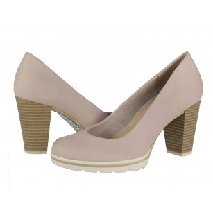 Дамски обувки на ток Marco Tozzi розови ANTISHOKK® мемори пяна