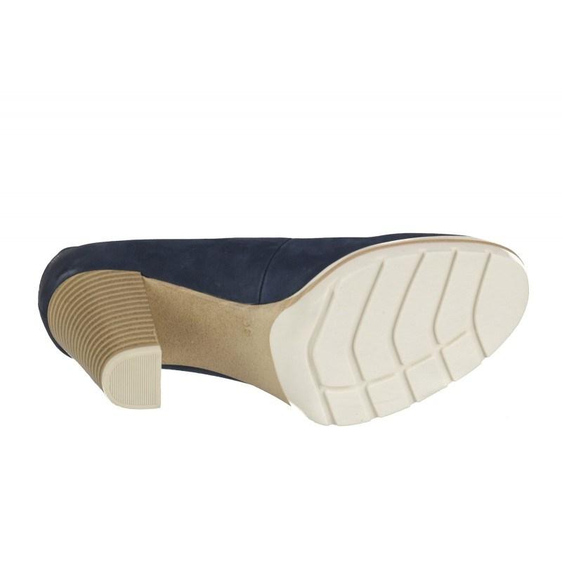 Дамски обувки на ток Marco Tozzi сини ANTISHOKK® мемори пяна