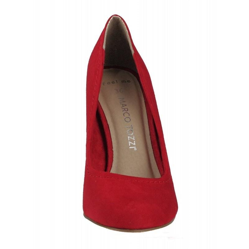 Дамски обувки на висок ток Marco Tozzi мемори пяна червени