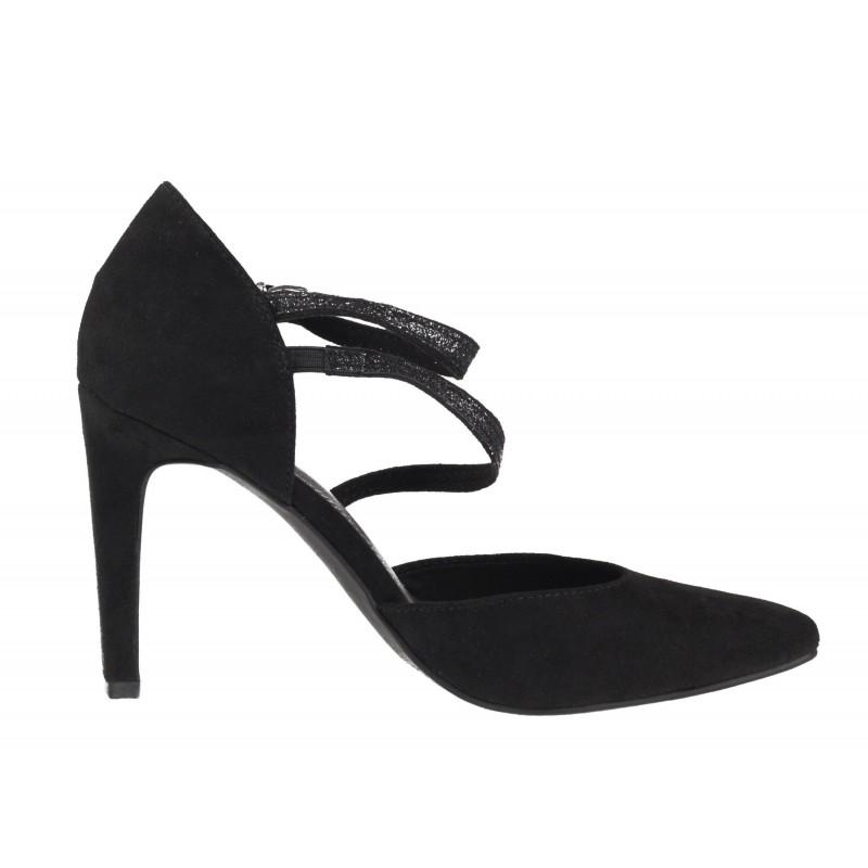 Дамски елегантни обувки на висок ток Marco Tozzi черни