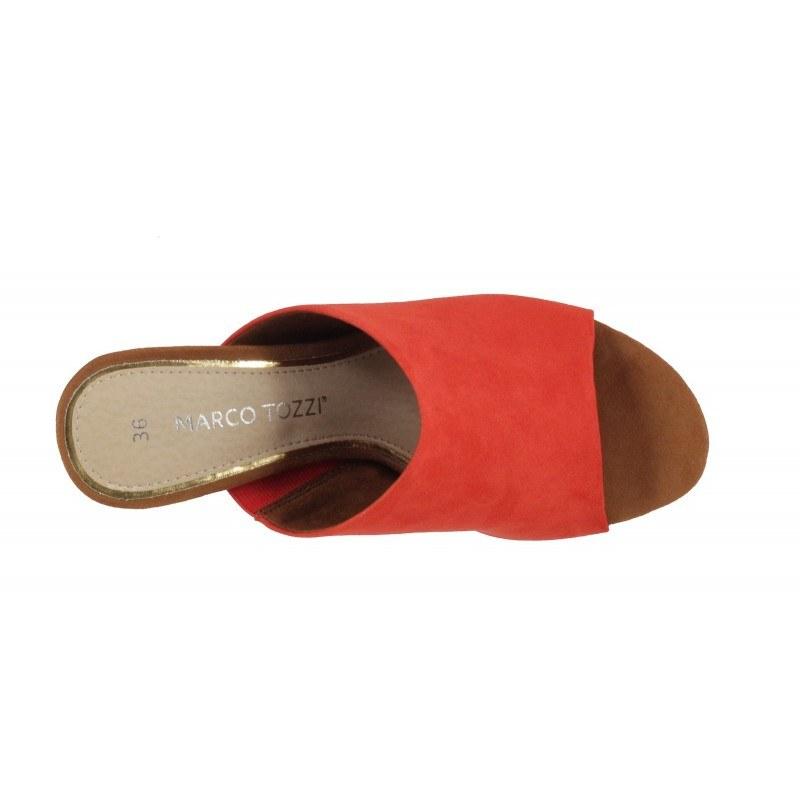 Дамски елегантни чехли на ток Marco Tozzi