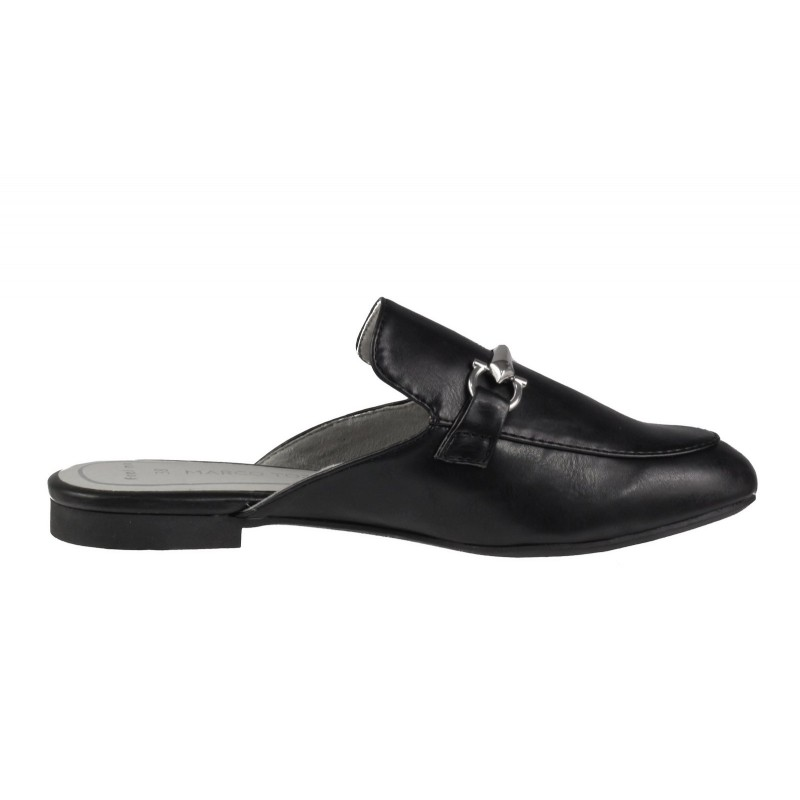 Дамски равни ежедневни чехли Marco Tozzi черен мат