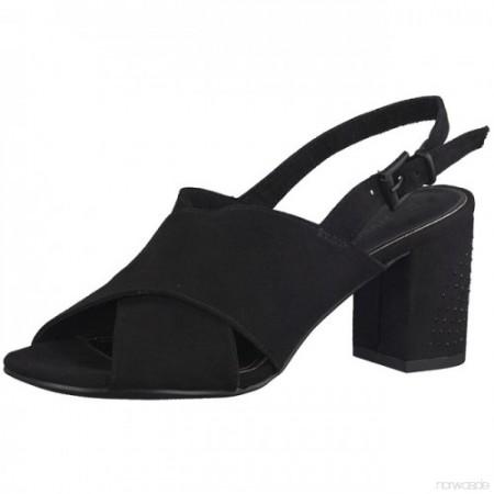 Дамски сандали на ток Marco Tozzi черни