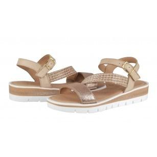 Дамски сандали с платформа Marco Tozzi розови