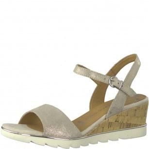 Дамски сандали на платформа Marco Tozzi металик