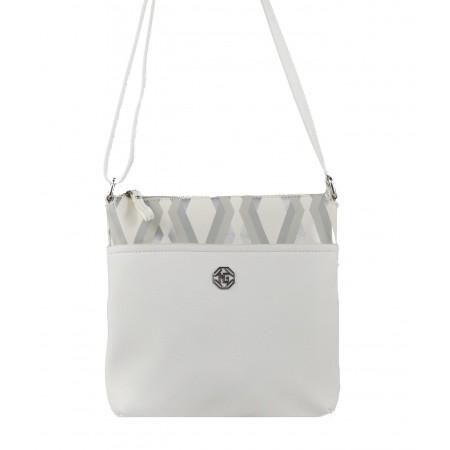 Дамска малка чантa през тяло Marina Galanti® Firenze бяла