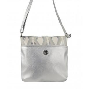 Дамска малка чантa през тяло Marina Galanti® Firenze сребристи