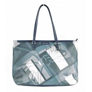 Дамска чанта принт Marina Galanti® Firenze светло синя