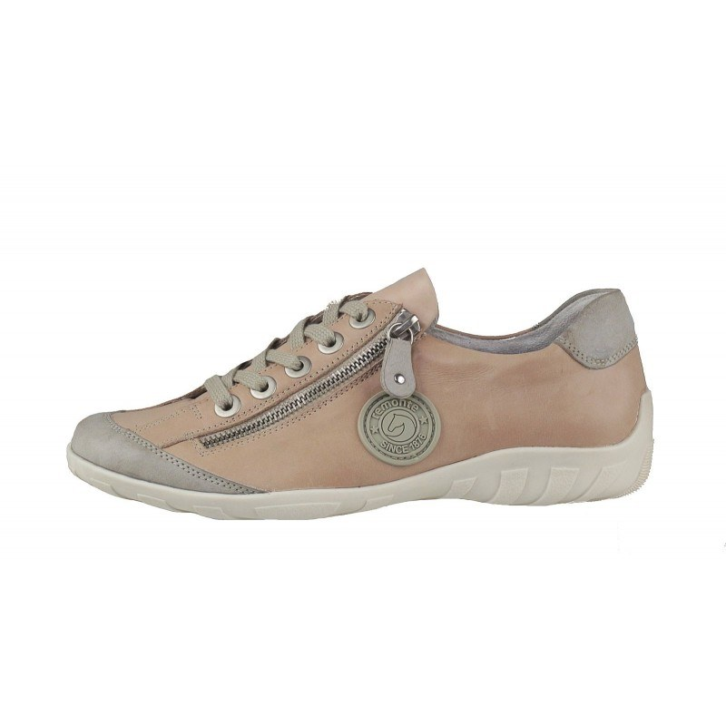 Дамски пролетно-летни обувки от естествена кожа Remonte розови R3443-31