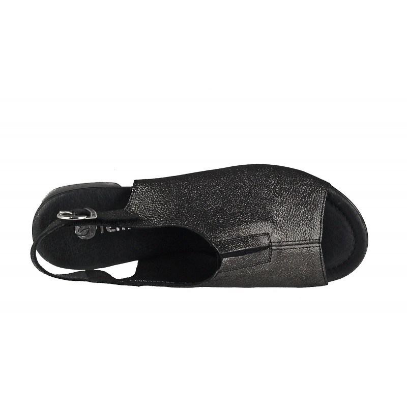 Дамски сандали на среден ток Remonte сиви R8753-02