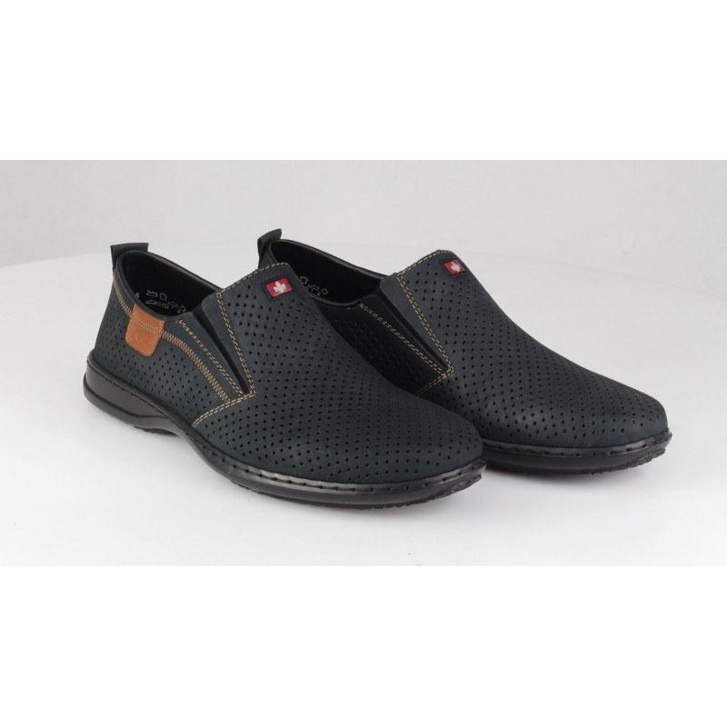 Мъжки спортно-елегантни обувки без връзки Rieker 01356-14