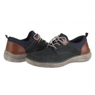 Мъжки спортно-елегантни обувки с връзки Rieker 03055-14