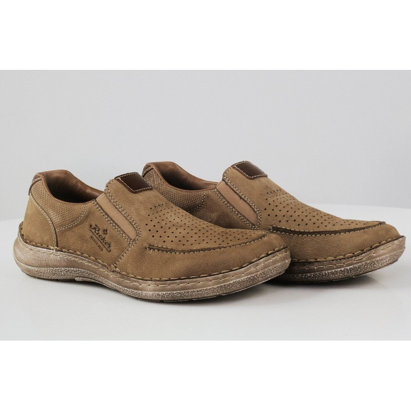 Мъжки спортно-елегантни обувки без връзки Rieker 03067-21