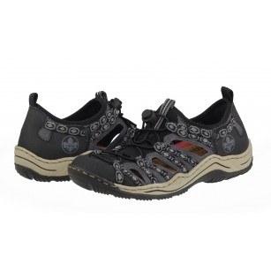 Ежедневни летни обувки Rieker ANTISTRESS L0583-02 сиви